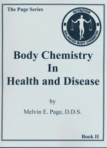Body Chemistry in Health and Disease