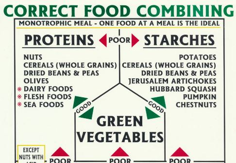 photograph relating to Food Combining Chart Printable named Suitable Food items Combining chart