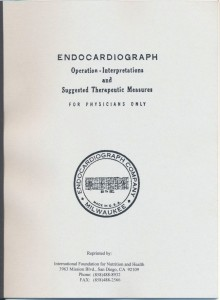 Endocardiograph - Operation-interpretations and suggested therapeutic measures