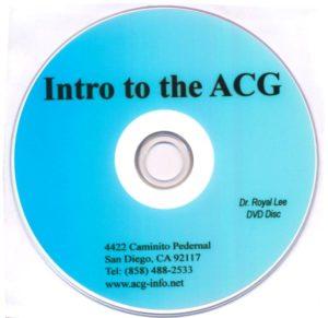 Intro to ACG DVD