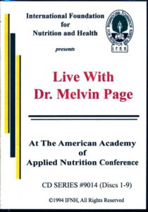 Live w Dr Melvin Page CD