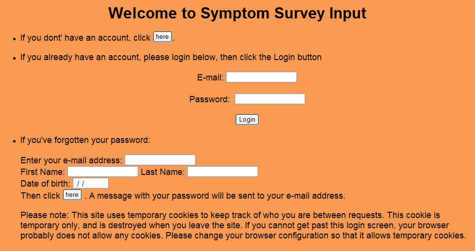 Symptom Survey